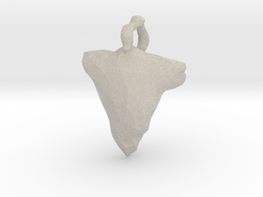 Arrow Head Low Poly in Natural Sandstone