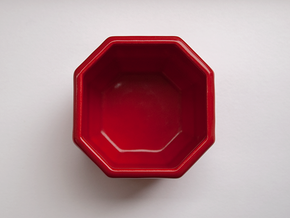 Whiskey coffee cup in Gloss Red Porcelain