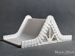 1/144 - Flame Deflector LC-34 (strong flexible) in White Processed Versatile Plastic