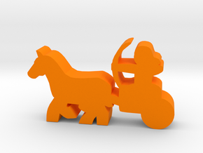 Game Piece, Egyptian Chariot in Orange Strong & Flexible Polished