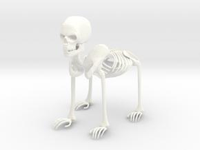 Bony Dog Man in White Processed Versatile Plastic
