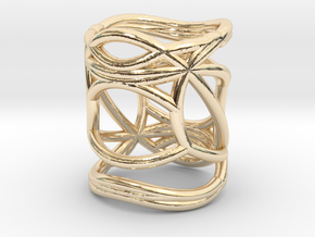 INTERSECTION Ring Nº5 in 14k Gold Plated Brass