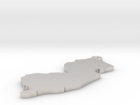NJ Keychain / Pendant  in Platinum