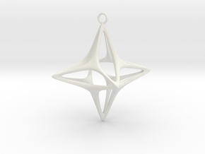 Christmas Star No.1 in White Strong & Flexible