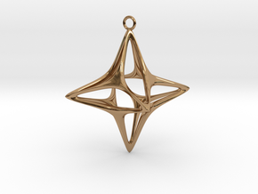 Christmas Star No.1 in Polished Brass