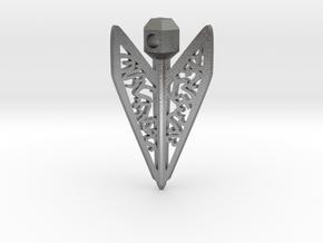Bagani Artifact Pendant in Natural Silver