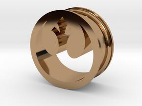 Star Wars Rebel Alliance 21mm Ear Ring Gauge in Polished Brass