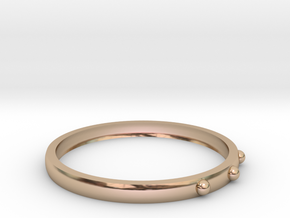 Simple Ring in 14k Rose Gold Plated Brass