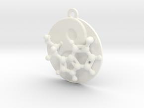 Happy Balance in White Processed Versatile Plastic