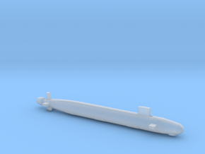 Virginia SSN, Full Hull, with sonar bumps, 1/2400 in Smooth Fine Detail Plastic