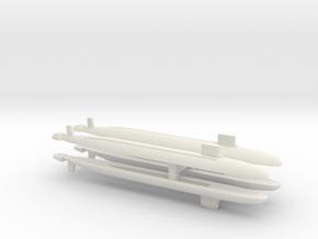 Virginia SSN x 4, 1/1800 in White Natural Versatile Plastic