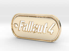 Fallout 4 Dog Tag in 14K Yellow Gold