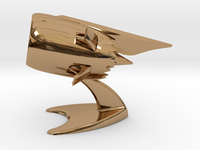 Jet Engine Desk Display in Polished Brass