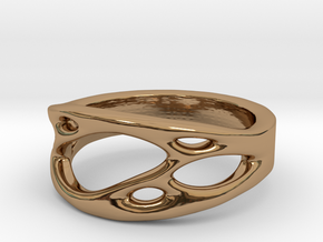 Frohr Design Ring Cell Cylcle in Polished Brass