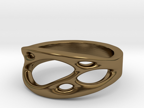 Frohr Design Ring Cell Cylcle in Polished Bronze