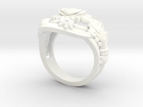 Botanika Mechanicum Ring SIZE 11 in White Processed Versatile Plastic