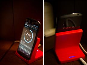 Nexus 4 Qi Charging Dock in Red Processed Versatile Plastic