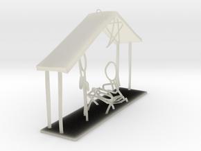 Stick Figure Nativity v2 in Transparent Acrylic