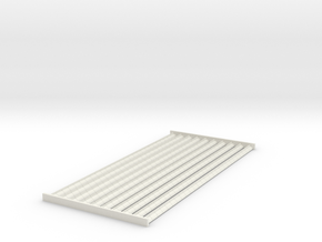4mm Scale Ridge Tiles 'Cocks Comb Crested Ridge' in White Natural Versatile Plastic