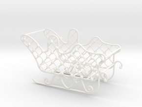 Christmas sleigh in White Processed Versatile Plastic