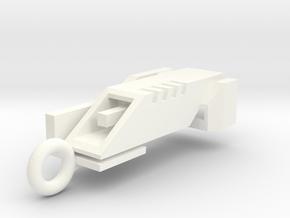 Ingress Portal Key Pendant ( 1.25in long ) in White Processed Versatile Plastic