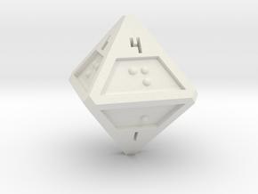 Braille D8 in White Natural Versatile Plastic