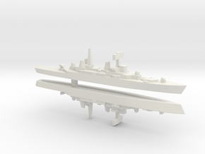 HMS Bristol x 2, 1/3000 in White Strong & Flexible