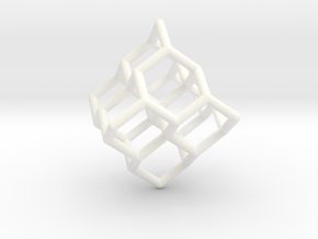 'Diamond' Earring -1mm diameter stuts in White Processed Versatile Plastic