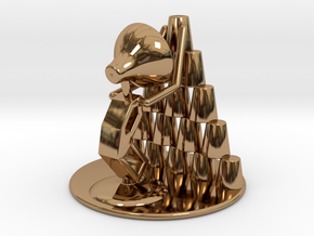 """Juju """"Playing with cups""""  - DeskToys in Polished Brass"""