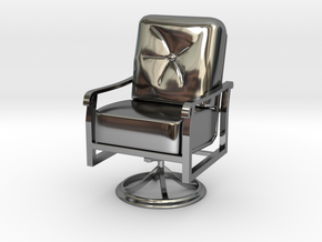 Mini Chair in Fine Detail Polished Silver