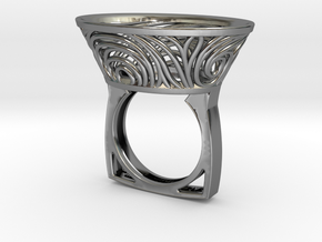 Constantina Contemporary - nest ring  in Premium Silver