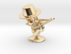 "Lala ""Playing Guitar"" - DeskToys in 14K Yellow Gold"