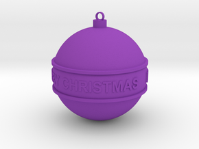 Christmas Ball in Purple Strong & Flexible Polished