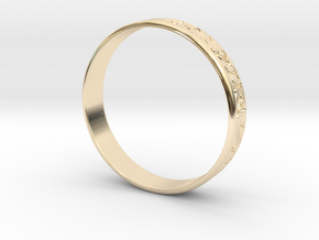 Ring Ornament love you in 14K Yellow Gold