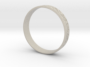 Ring Ornament love you in Natural Sandstone