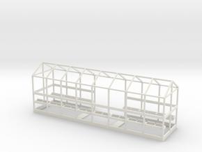 C-03S Dover Priory Shelter - Short Version in White Natural Versatile Plastic