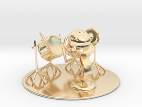 "Lala ""Trying Drums"" - DeskToys in 14K Yellow Gold"