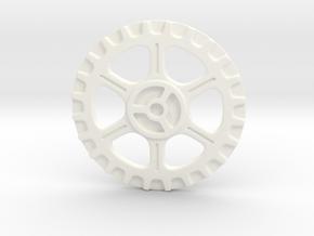Steampunk Button A in White Processed Versatile Plastic