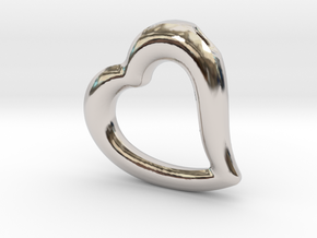 Heart Pendant Mark I in Platinum