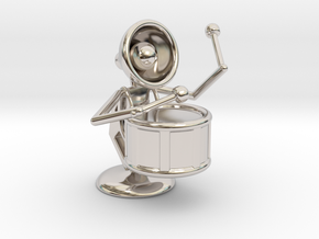 """Lala """"Performing in Drum Band"""" - DeskToys in Rhodium Plated Brass"""