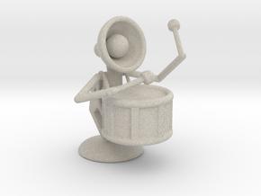 "Lala ""Performing in Drum Band"" - DeskToys in Natural Sandstone"