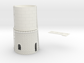 NCE02 Water tower in White Natural Versatile Plastic