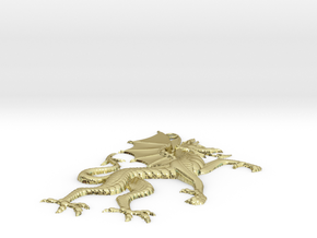 Dragon Pendant in 18k Gold