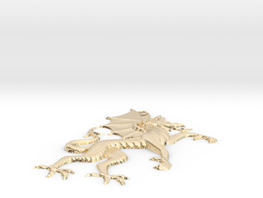 Dragon Pendant in 14k Gold Plated Brass