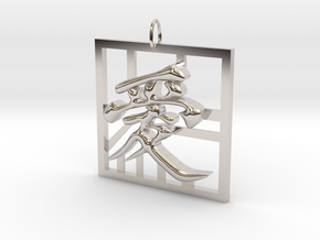 Love in Chinese in Rhodium Plated Brass