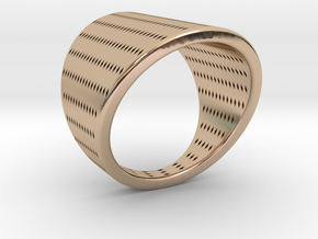 EMI Ring Nº10 in 14k Rose Gold Plated Brass