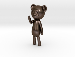 Among the Sleep Teddy Bear in Polished Bronze Steel