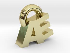 AE Pendant in 18k Gold