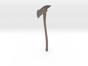 Miniature Axe in Polished Bronzed Silver Steel