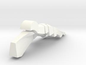 Planar Foot - 5 Inch in White Processed Versatile Plastic